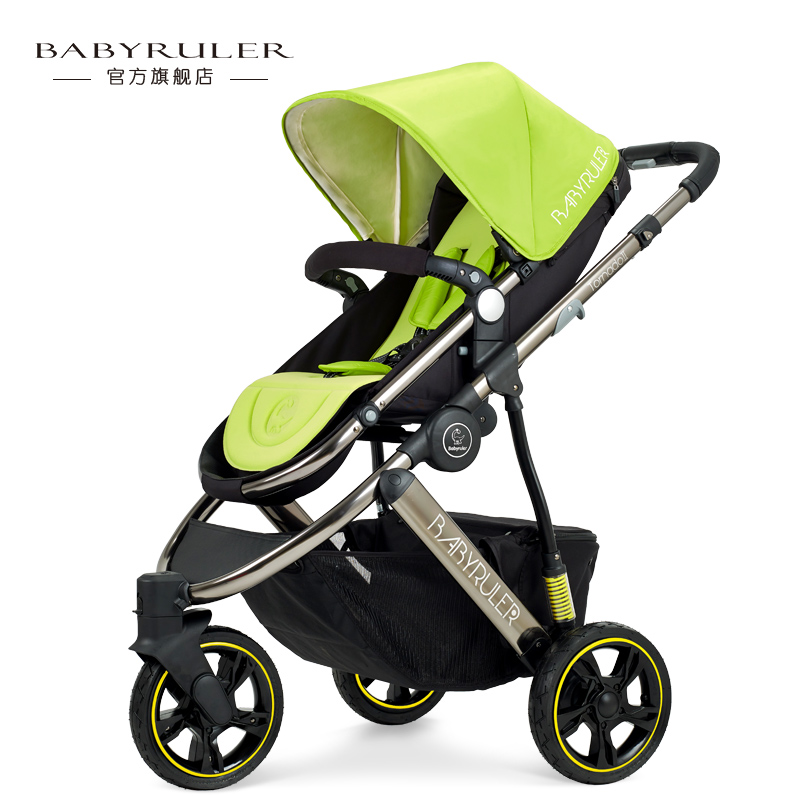 Baby stroller babyruler two-way baby car tricycle child cart shock absorbers зеркало с фацетом в багетной раме поворотное evoform exclusive 53x83 см прованс с плетением 70 мм by 3407