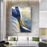 Gold leaf painting on canvas living room painting home decoration painting abstract wall art pictures acrylic texture wall decor