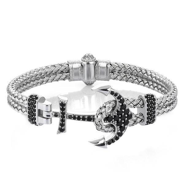 Bracelet En Forme D'ancre