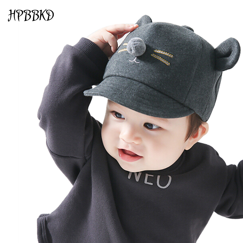 HPBBKD Fashion Baby Girl Boy Hat Newborn Infant Toddler Cap Girl Boy Unisex Cotton Baseball Cap Kids Hat Children Sun Hats GH213(China)