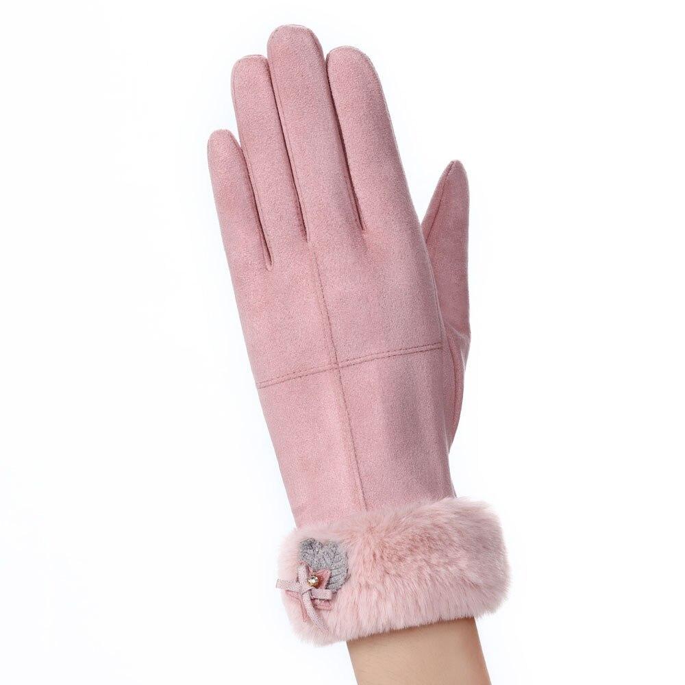 Модные женские спортивные зимние однотонные полный палец руки удобные уличные теплые перчатки 9,6