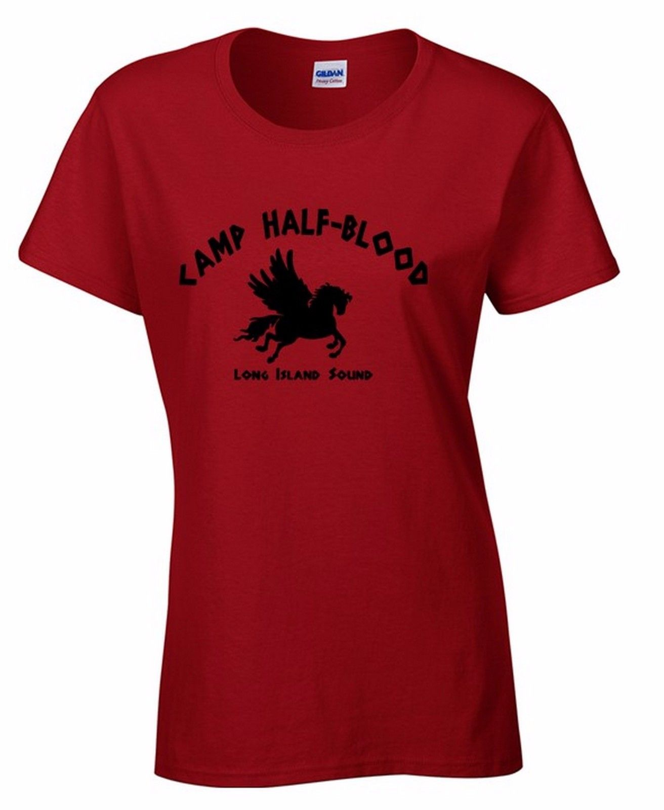 Camp Half-Blood Long Island Sound WOMAN T-shirt Demi-God Greek Gods Shirt Punk T Shirt Fashion Short Sleeve O-Neck image