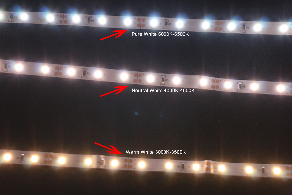 MARSWALLED High CRI RA 90 LED Strip Lights 2835SMD 12V DC 5M 300leds Nonwaterproof Pure White 6500K LED Lighting for Holiday in LED Strips from Lights Lighting
