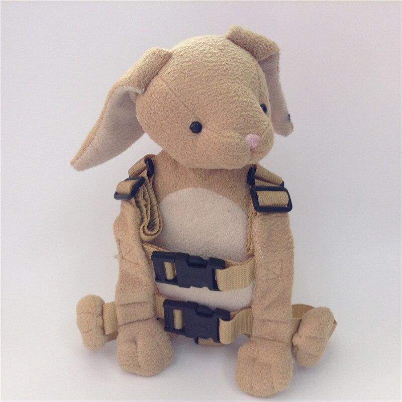 Приятель для того, чтобы держать 2-в-1 Детские накладной Рюкзак Детские поводья для От 1 до 3 лет вокруг - Цвет: Teddy Rabbit