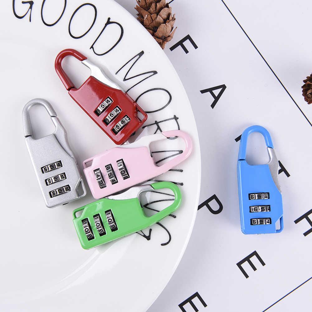 1PCS  Padlock Suitcase Travel Luggage Boxes Safety Travel Colorful 3 Digit Code Safe Combination Luggage Password Lock