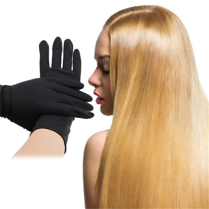 1Pair Hair Straightener Perm Curling Hairdressing Heat Resistant Glove Black Glove Styling Hairdressing Accessories S-L