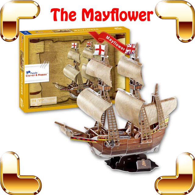 christmas gift mayflower ship 3d puzzle navigation flagship model boat diy toys decoration ancient vessel paper