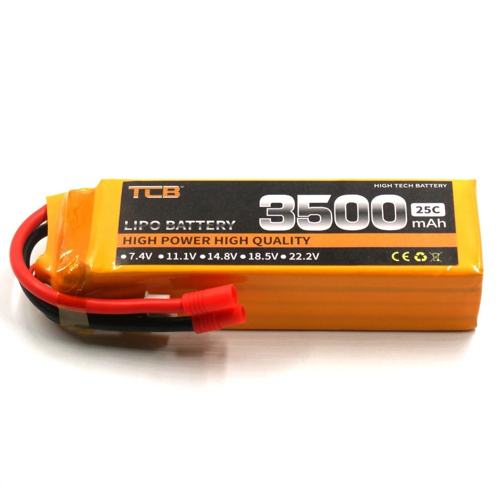 TCB lipo akkumulátor 14.8v 3500mAh 25C 4s RC repülőgép cella AKKU - Távirányítós játékok