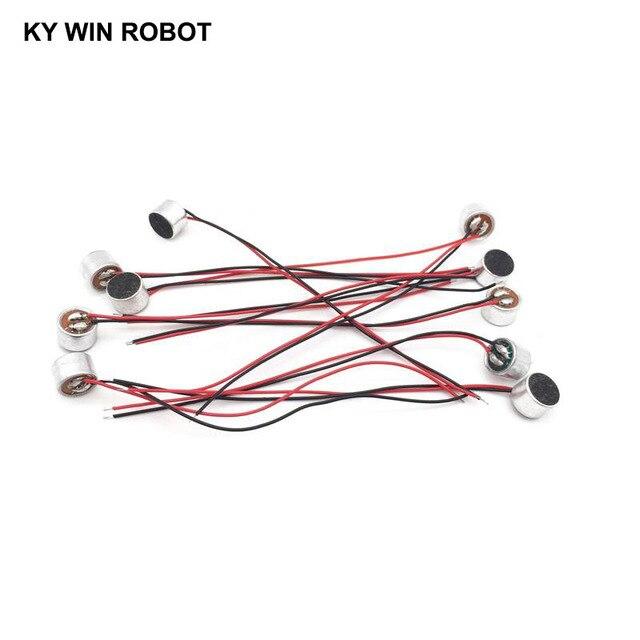 10 قطعة/الوحدة 9x7 مللي متر 9767 كبسولة ميكروفون مكثف Electret مع سلك طول 9.5 سنتيمتر