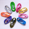 1M 3ft 2M 6.5ft 3M 10ft Colorful Braided Fabric Micro USB 2.0 Cord Data Sync Charger Cable For Samsung htc android smart phone