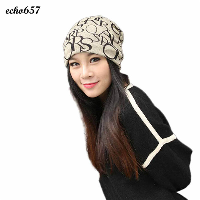 Hot Sale Echo657 New Fashion Classic Hip-Hop English Letter Multi Purpose Baggy Hat Unisex Scarf Beanie Cap Nov 18 hot new multi purpose infrared babies
