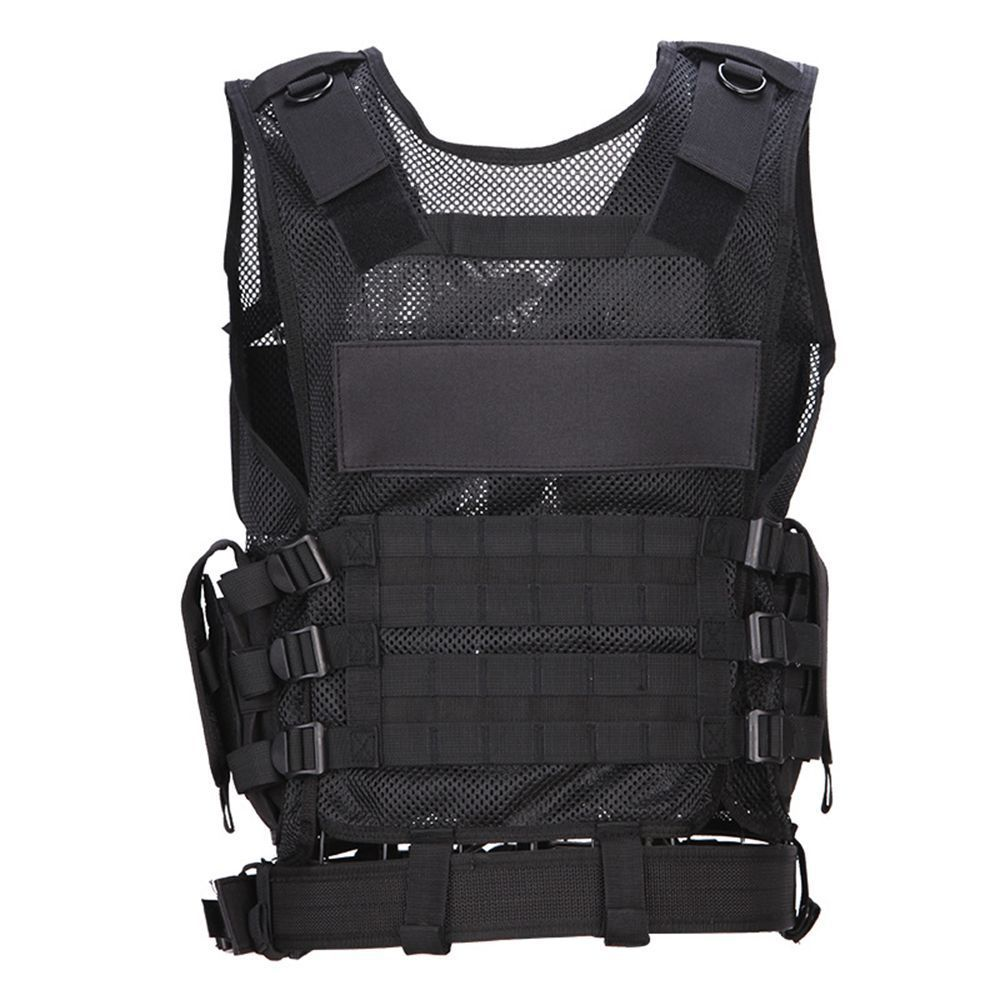 Black Tactical Hunting Vest CS Wargame Outdoor Military Body Armor Sports Wear Airsoft Vest Army Swat Molle Police Vests men swat tactical military vest for sportman outdoor hunting hiking camping black vest