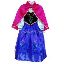 New 2014 Baby girls Auturm  Frozen dress,party dress,kids elsa dress,Girl Elsa&Anna Children hood dress,