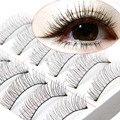 10 Pairs Falsh Pestañas Suaves pestañas Cruzadas Naturales Hechos A Mano Pestañas pestañas de Extensión para la construcción de Maquiagem Maquillaje Herramienta