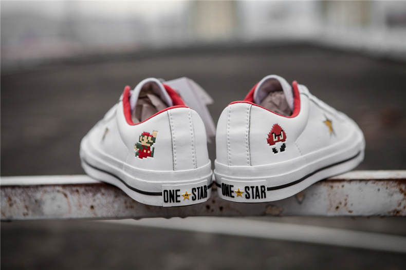 102f7ad992199d 2018Original new CONVERSE ALL STAR shoes Super Mario ONE STAR Men women  sneakers low canvas Skateboardings Shoes 36 44-in Skateboarding from Sports  ...