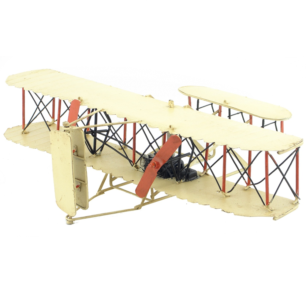 The first airplane in the world Antique plane ornaments handmade aircraft model accessories furnishings home decor gift