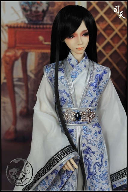 Bjd куклы-костюм детская одежда синий и белый 13