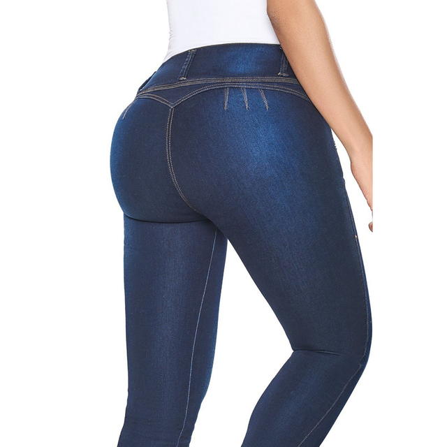 029f7659942 MIND FEET High Waist Women Jeans Push Up Skinny Bodycon Stretch Sexy  Zippers Fly Butt Lift Denim Pants Ladies Trousers Jeans