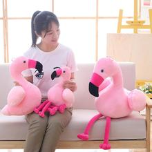 Flamingo Plush baby Toy Soft Stuffed pillow Cute Animal Lovely Dolls for Kids friends Appease Baby Girls on