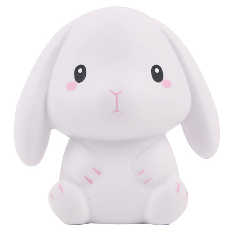 Jumbo Rabbit Squishy Cute Simulation Squishies Cream Scented Slow Rising Creative Soft Squeeze Stress Relief Fun Kid Toy Gift