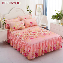 Aloe Cotton Bed Skirts Linen Korean Sheet With Pillowcase Cover 1pcs Queen King Size Single Double Bedspread colchas