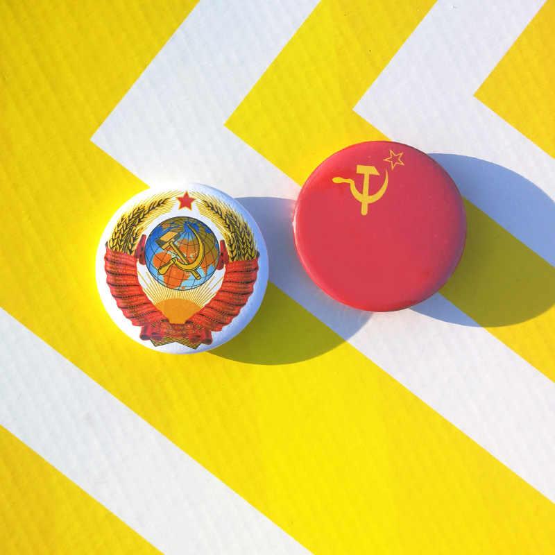 Nengdou T2 USSR ธงป้าย USSR โซเวียตรัสเซียทหาร Order เหรียญทหารสีแดงสหภาพโซเวียตสัญลักษณ์แห่งชาติ Pin