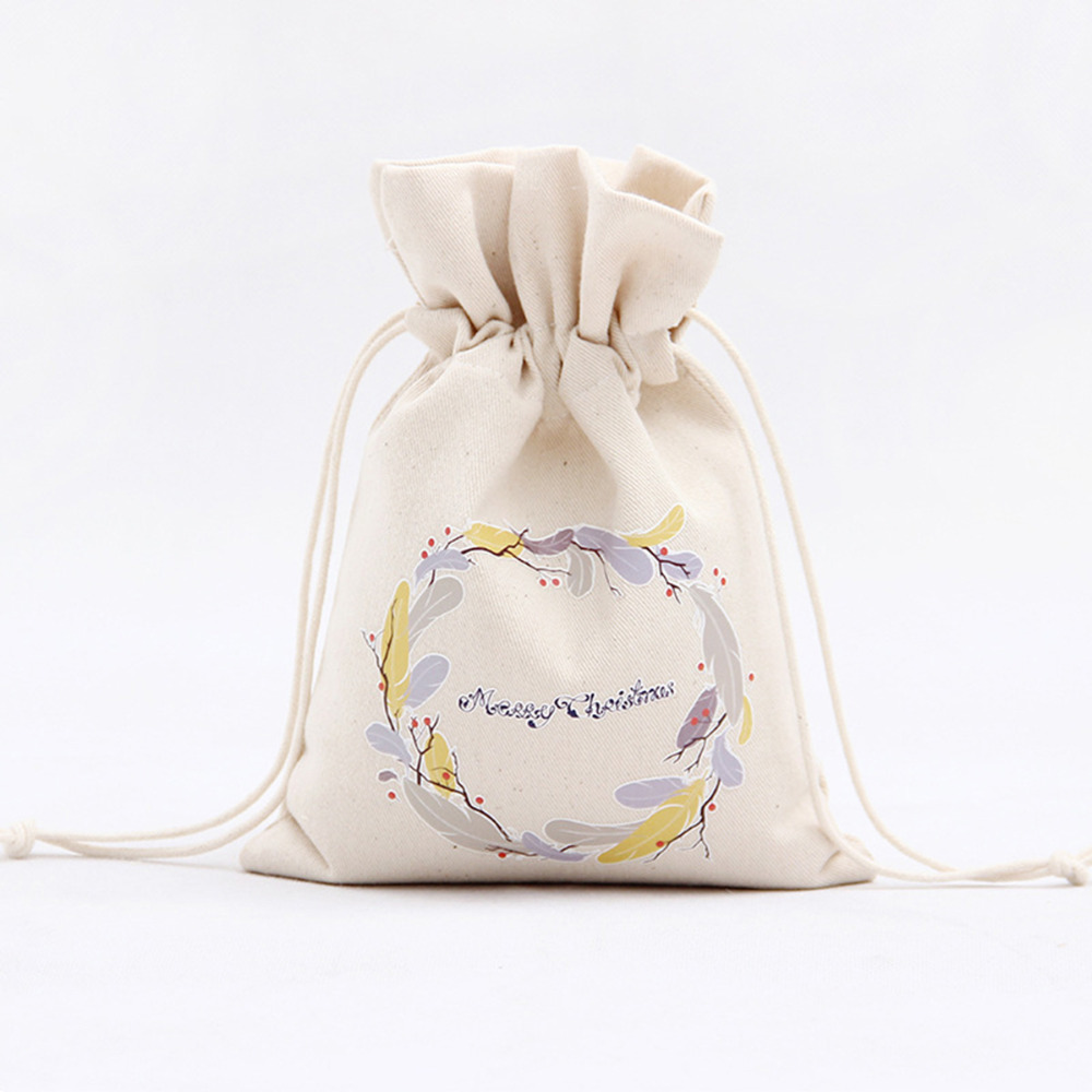 1pc Cotton Linen Burlap Jute Sacks Drawstring Gift Bags Rustic ...