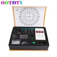 OOTDTY Optical Equipments Experiments Concave Convex Lens Prism Set Physical Optical Kit Laboratory Equipment APR20 30