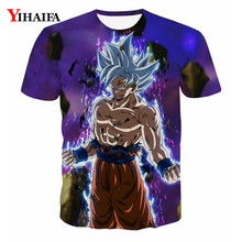 3D Print T shirt Men Anime Dragon Ball Z Graphic Tee Fashion Cartoon Casual Tee Shirts Round Neck Tops Summer Blouse Tops