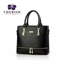 Cherish Dianna women messenger bags kors handbag zipper bag women Skin Over Shoulder Bag pu Leather Large
