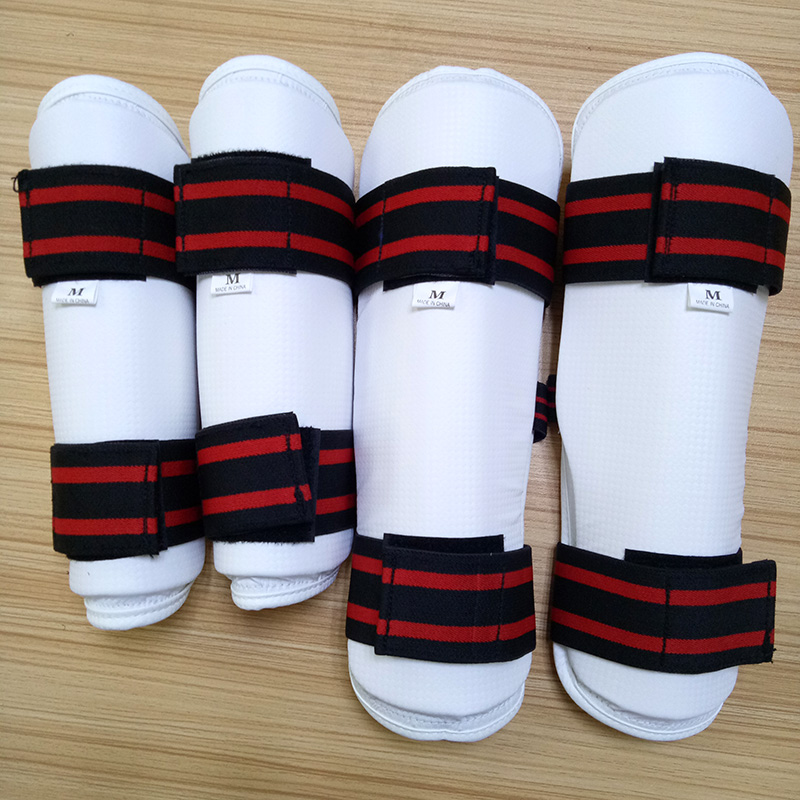 Taekwondo WTF ITF Protector 4pcs/set High Quality Foream Arm Guard Legging Geer For Fighting Kicking Boxing Karate Equipment Kid high quality mooto taekwondo foot protector kta for offical competition fighting feet guard kicking box spats guard