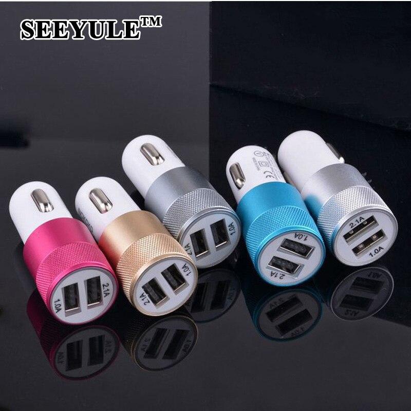 1 шт. seeyule Dual USB универсальный автомобильный Зарядное устройство 1A 2.1a 2 Порты Авто-прикуриватели телефон Зарядное устройство для мобильных фо…