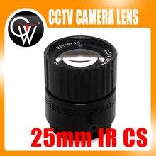3MP 25mm CS lens HD CCTV Camera Lens 14 degree IR HD Security Camera Lens For HD IP AHD HDCVI SDI Cameras CS Mount