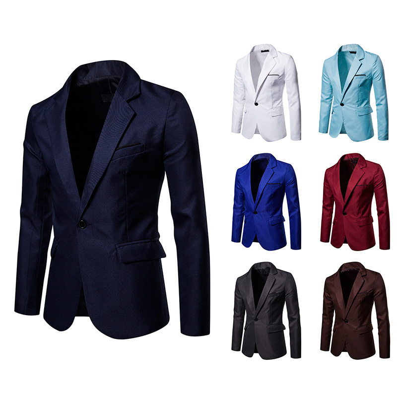 MEN 39 S BLAZER NEW Arrival 2019 Autumn Formal Business wear Slim Fit Suit jacket men offices jacket male casual in Blazers from Men 39 s Clothing