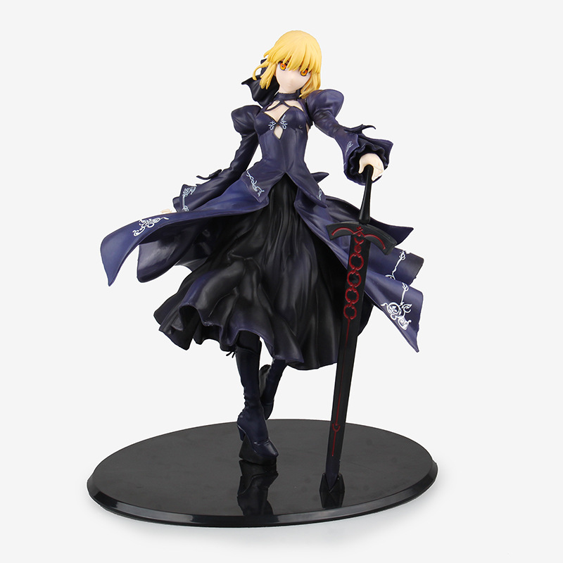 Fate Zero Fate Stay Night Black Saber PVC Action Figure Collectible Model Brinquedos Kids Toys Juguetes Christmas Gift fate zero volume 1