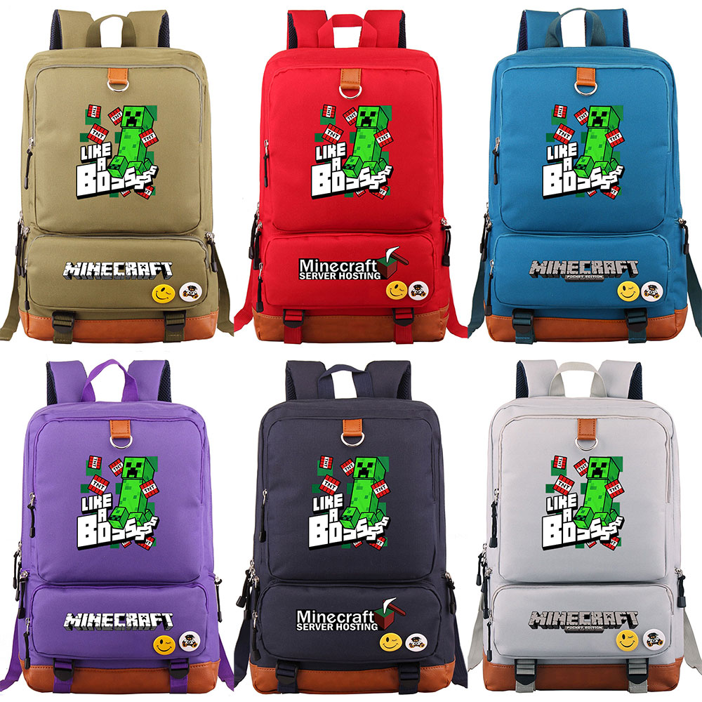 Plaid Games MineCraft TNT Like a Boss Boy Girl School bag Women Bagpack Teenagers Patchwork Canvas Men Student Laptop Backpack Plaid Games MineCraft TNT Like a Boss Boy Girl School bag Women Bagpack Teenagers Patchwork Canvas Men Student Laptop Backpack