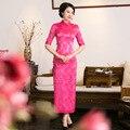 Women's silk Chinese dress Long Cheongsam sexy Qipao Chinese Tradition wedding dress Evening Dress Top quality Size S M L XL 3XL