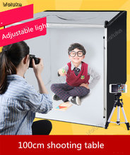 100CM Small LED studio set photo lamp fill light flexo box simple photographic equipment props CD50 T03(China)