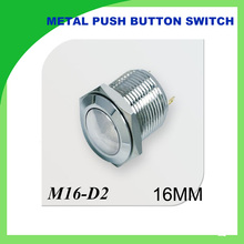 1 PCS 16mm push button switch round head reset 36V nickel plated brass