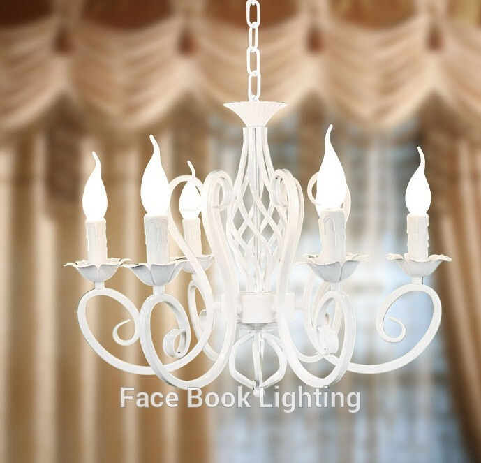 European fashion vintage chandelier ceiling lamp 6 candle lights european fashion vintage chandelier ceiling lamp 6 candle lights lighting iron blackwhite lampshade fixtures e14 chandeliers in chandeliers from lights aloadofball Gallery