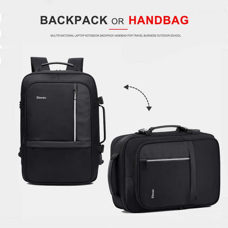 Wanita Pria Ransel Anti Pencurian 17 Inch Laptop Ransel USB Charger 15.6 Notebook Bisnis Tas Pria Tahan Air Perjalanan Bagpack