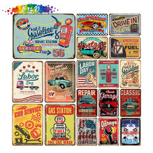 Motor Oil Plaque Vintage Metal Tin Signs Home Bar Pub Garage Gas Station Decorative Iron Plates Wall Stickers Art Post