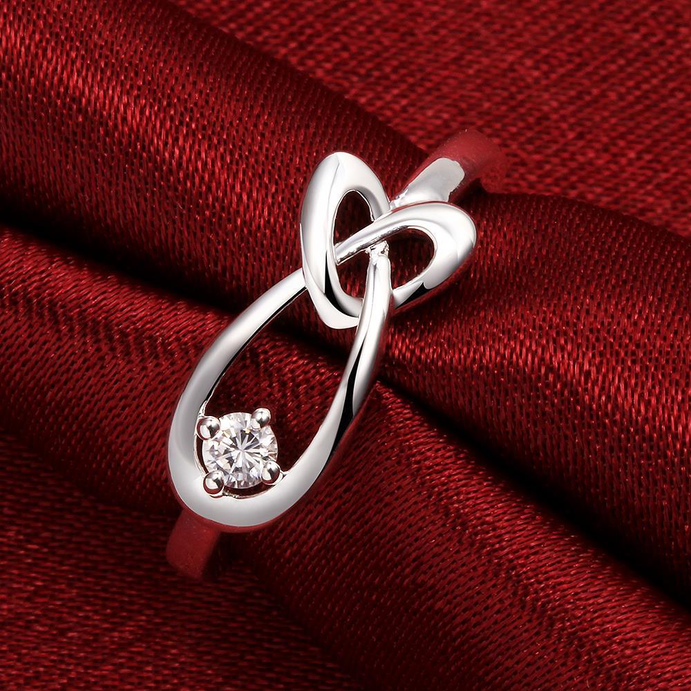 Best deals ) }}Geometric Heart Zircon Ring 925 Sterling