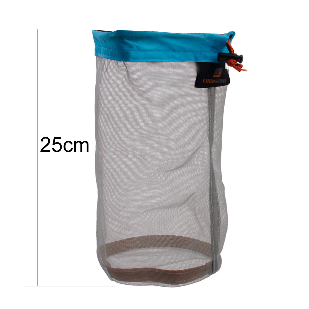 Ultra Stuff Sacks Nylon Mesh Drawstring Storage Bag for Travelling Hiking Set of 3size bag for Climbing Hiking Rope Storage in Climbing Accessories from Sports Entertainment