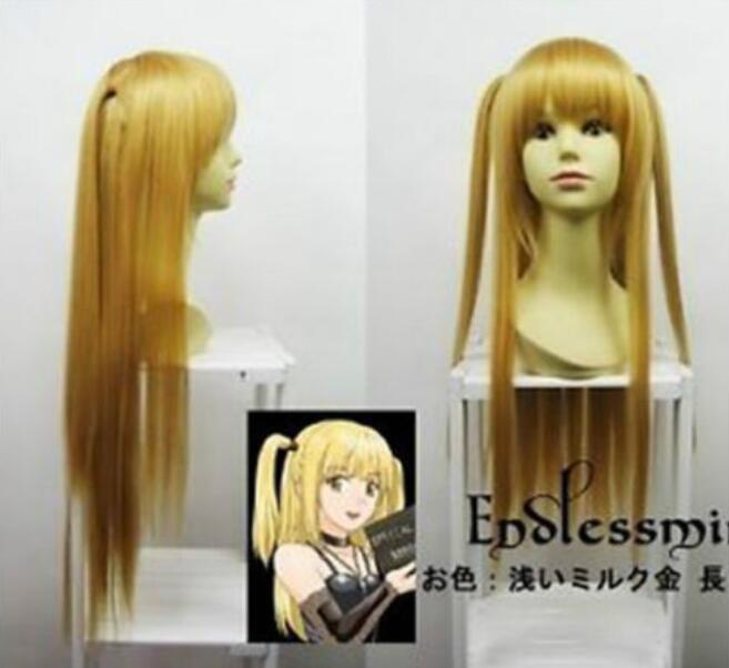 Jewelry Wig Death Note Amane Misa Blonde Long Cosplay Party Wig Fashion 80cm Cos Wig Free Shipping(China)