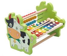 Новая деревянная игрушка обучающая с восьми звуками детская