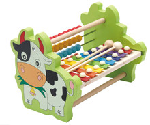 New wooden toy  Computation Eight Sound Education baby Free shipping