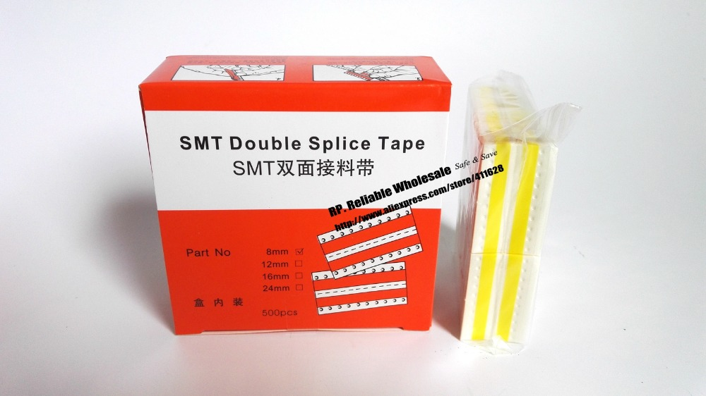 8mm/12mm/16mm/24mm Choose, SMT Double Splice Tape, Surfacd Mounting Band Yellow compact light smt splice tool s10 cl