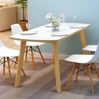 LK583 Home Restaurant European Dining Table Solid Wood Leg Coffee Table High Quality Baking Varnish Desktop Computer Desk end table