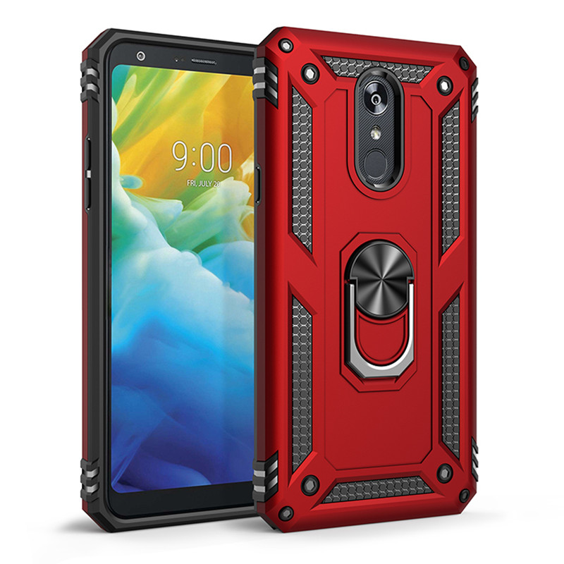 LG K40 case Hard Shell Military Grade Duty Premium Cover with Holder 360/°Rotating Ring Grip Cases for Magnetic Car Mount